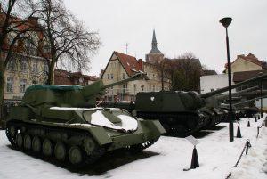 Ekspozycja plenerowa MOP znajduje się w centrum Kołobrzegu