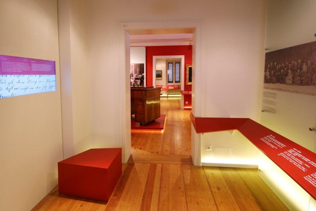 Muzeum Kraszewskiego w Dreźnie, widok sali III i osi wystawy (fot. A. Orlewicz)