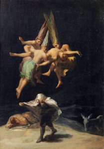 """Francisco de Goya, """"Lot czarownic"""", 1797–98, olej na płótnie, 43 × 30,5 cm (Prado, Madryt) © Museo Nacional del Prado, Madrid"""