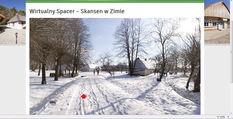 Wirtualny spacer po Skansenie w Sanoku zimą