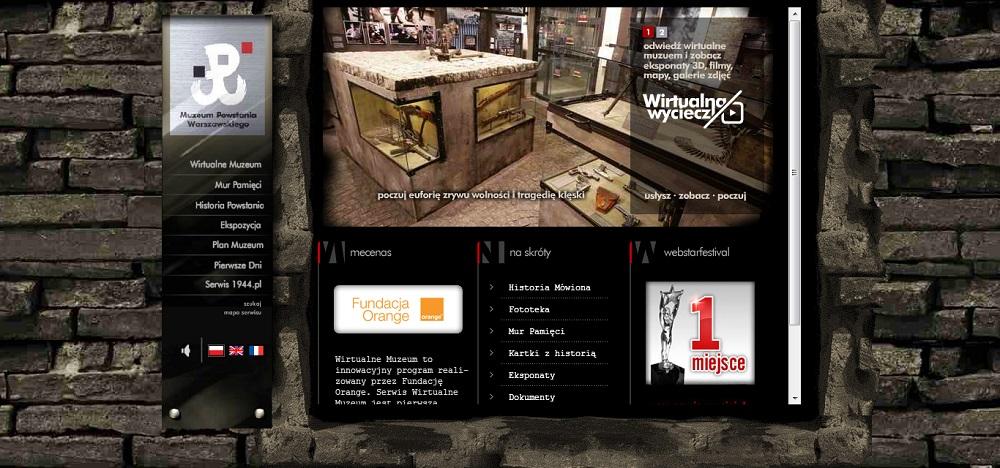 Strona wirtualnego Muzeum Powstania Warszawskiego