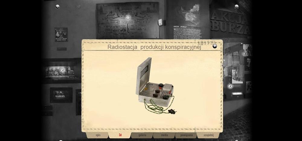 Powstańcza radiostacja na stronie wirtualnego MPW