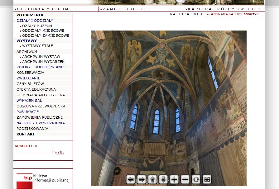 Kaplica Zamkowa on-line w 3D