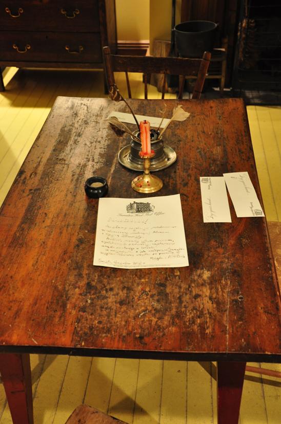 List napisany gęsim piórem (fot. Autor)