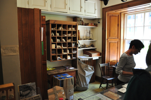 Obok ekspozycji działa ogólnodostępna placówka pocztowa (fot. Autor)