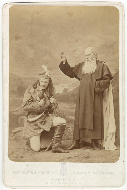"""Fot. z """"Konfederatów barskich"""" A. Mickiewicza, wyk. w atelier W. Rzewuskiego, Kraków, 1872, ze zbiorów MHK"""
