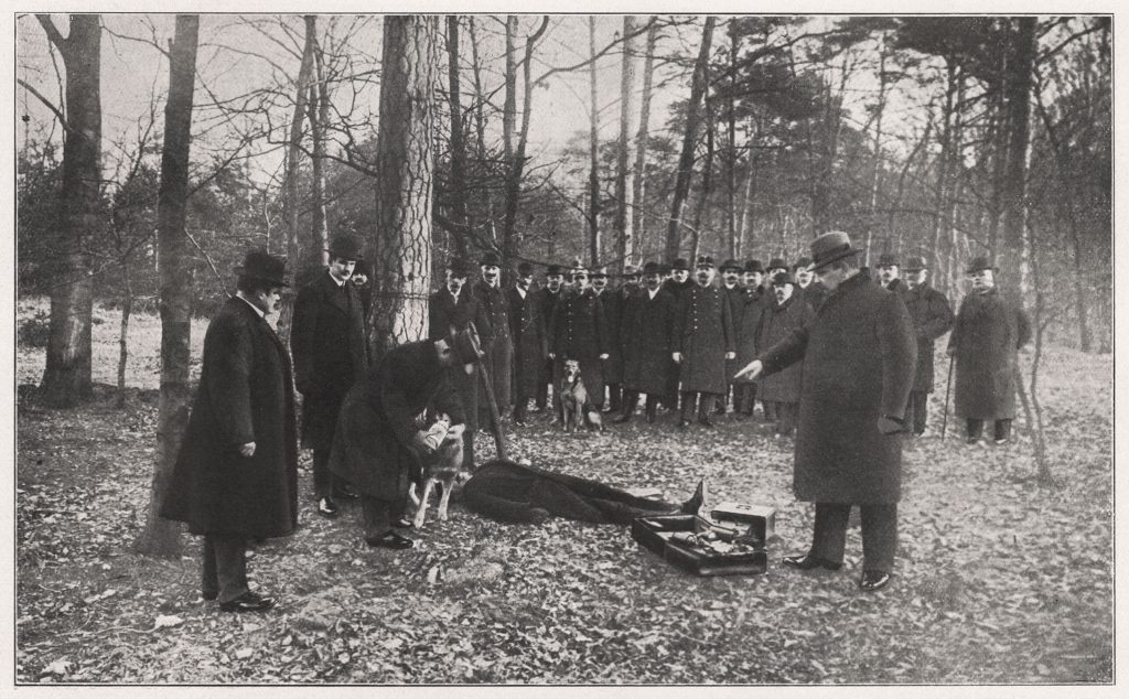 ćwiczenia policyjne -ogledziny zwlok, alat 20.XX wieku