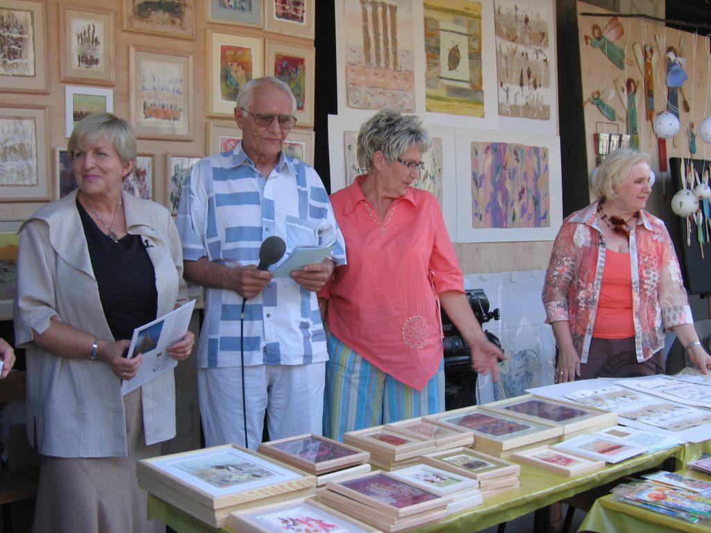 Realizacja w Muzeum Papiernictwa programu Telewizyjny Klub Seniora w 2006 r.