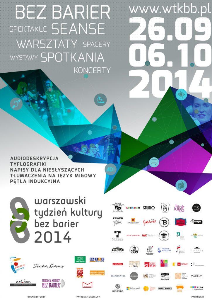 Plakat II Warszawskiego Tygodnia Kultury bez Barier