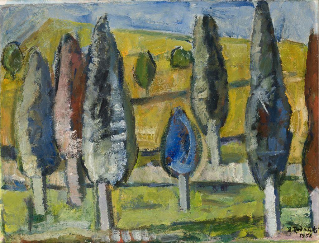 Widok z Czarnej Góry, 1953 olej, płótno; 50 x 65 cm Muzeum Narodowe w Krakowie
