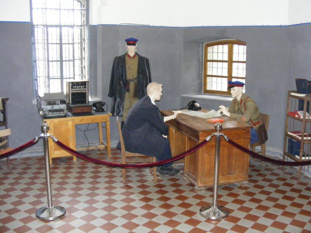 Scena przesłuchania przez NKWD, fot. Autor