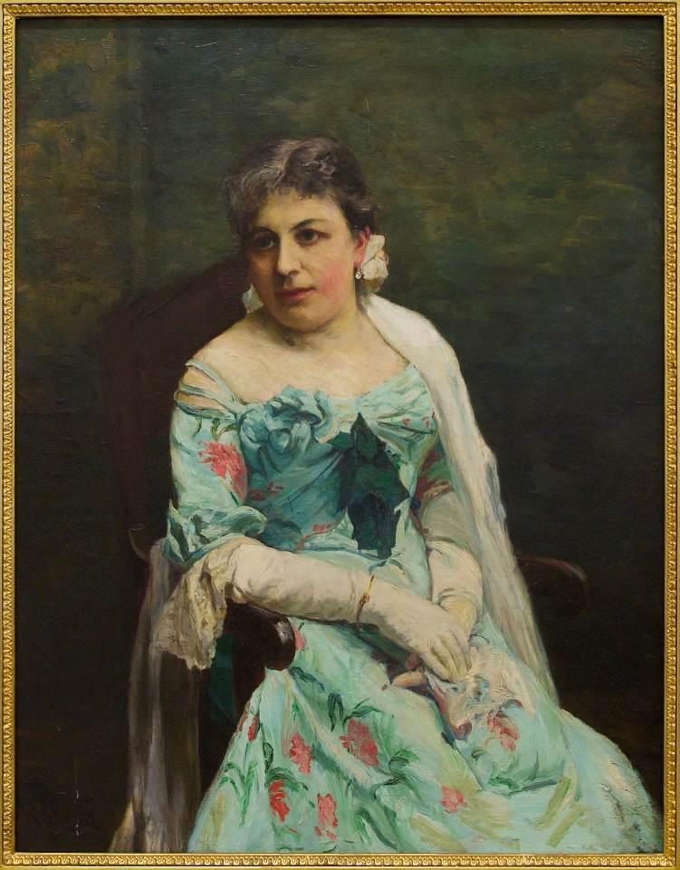 A. Wierusz-Kowalski Portret Jadwigi Wierusz-Kowalskiej (1907 r., olej na płótnie, 101 x 79 cm)