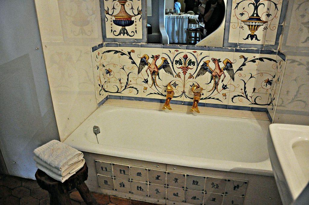 Łazienka w Castell Gala-Dali (fot. Autorka)
