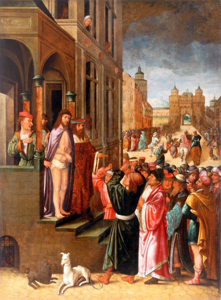 Ecce Homo, naśladowca Juana de Flandes (1460-1519), 2. poł. XVI w., tempera na desce, Ze zbiorów Muzeum KUL, fot. I. Marciszuk, KUL