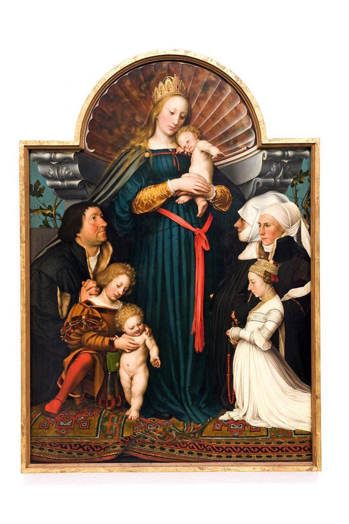 Hans Holbein - Madonna Burmistrza Meyera © PHILIPP SCHÖNBORN PHOTOGRAPHIE GEORGENSTRASSE 4 D 80799 MÜNCHEN TEL 0049- 89- 397119 FAX 0049- 89- 18921385 SCHOENBORN@MUEN CHEN-MAIL.DE WWW.PHILIPPSCHOENBORN.DE AUFGENOMMEN AM: 22.11.2011 ORT: MUSEUM WÜRTH SCHWÄBISCH HALL TITEL: DIE DARMSTÄDTER MADONNA VON HANS HOLBEIN DEM JÜNGEREN ARCHIV NR: DSC1771