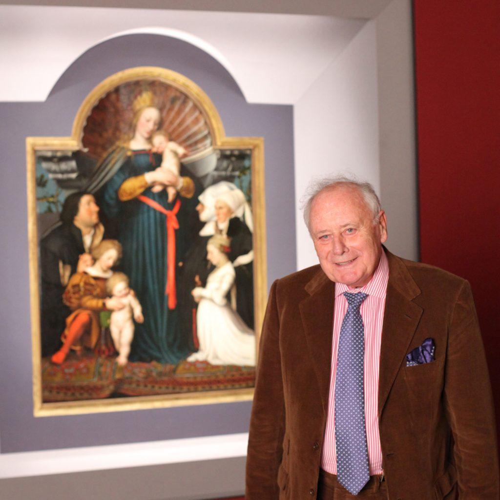 Prof. Dr. h. c. mult. Reinhold Würth vor Schutzmantelmadonna Foto andi Schmid München