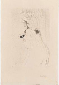Henri de Toulouse-Lautrec, Miss May Belfort kłaniająca się publiczności, litografia, papier, Paryż, 1895 Zakupiony w 2015