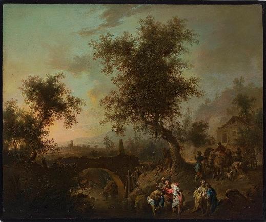 Johann Conrad Seekatz, Chrzest dworzanina królowej etiopskiej, olej, blacha miedziana, XVIII w.