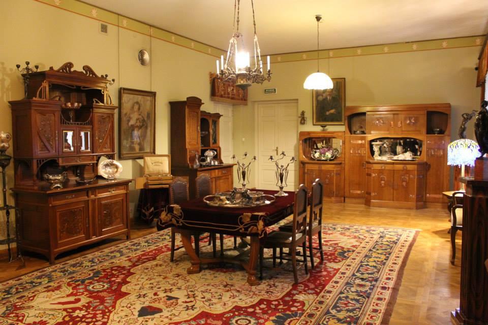 Salon mieszczański z przełomu XIX-XX w.