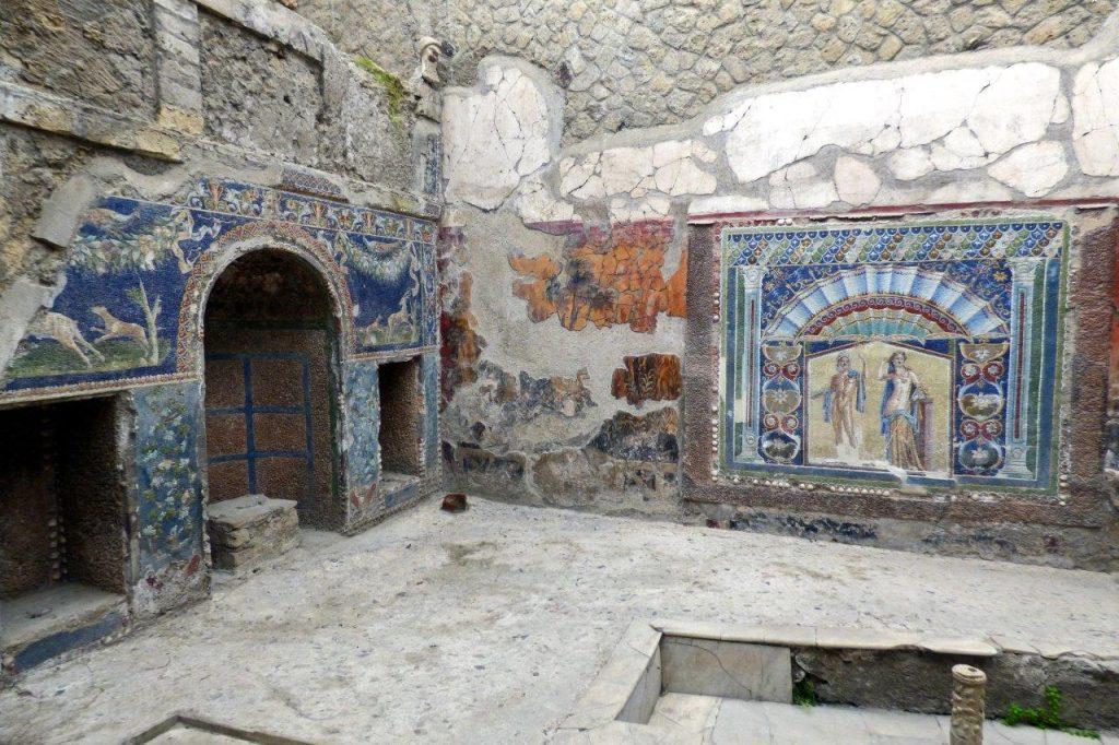 Herkulanum - Mozaika przedstawiająca Zeusa i Amfitrynę