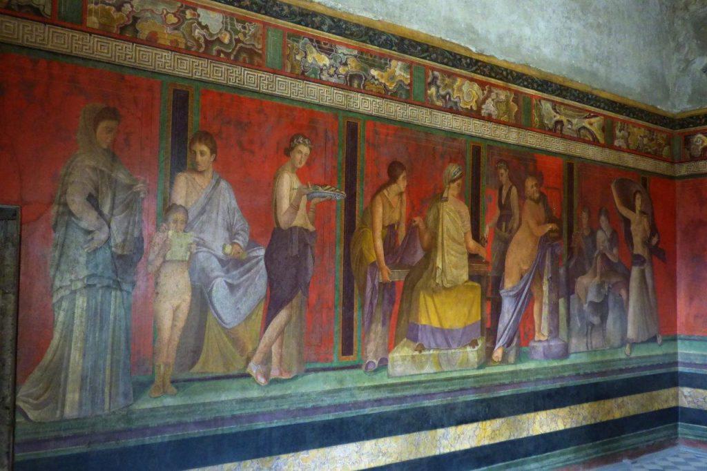 Pompeje - Misteria Dionizyjskie detal