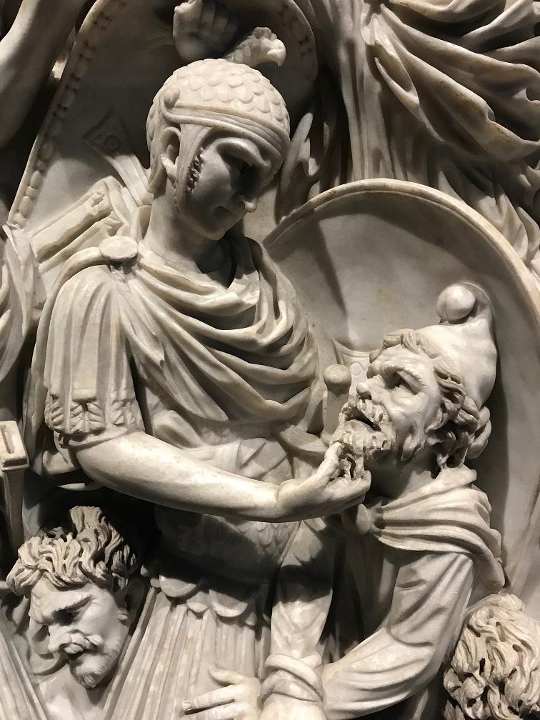 Palazzo Altemps, Muzeum Narodowe w Rzymie - fragment wielkiego sarkofagu Ludovisi, marmur