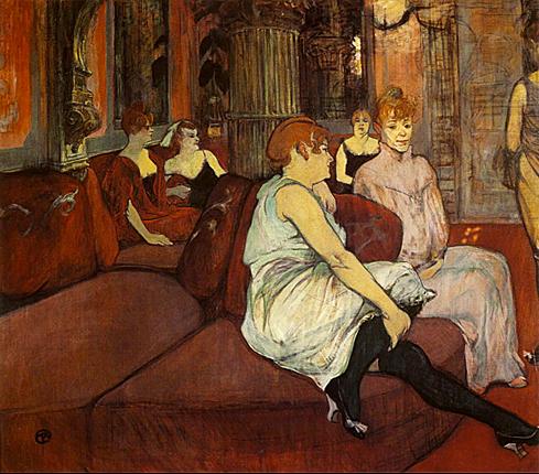 W salonie przy rue des Moulins